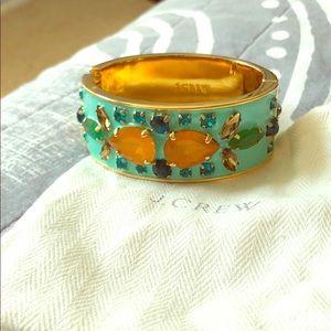 Aqua & Goldtone Multi-stone Bracelet